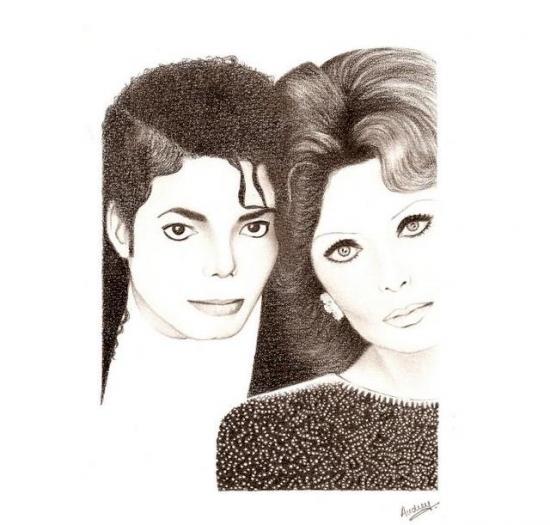 Michael Jackson, Sophia Loren by Oodrey